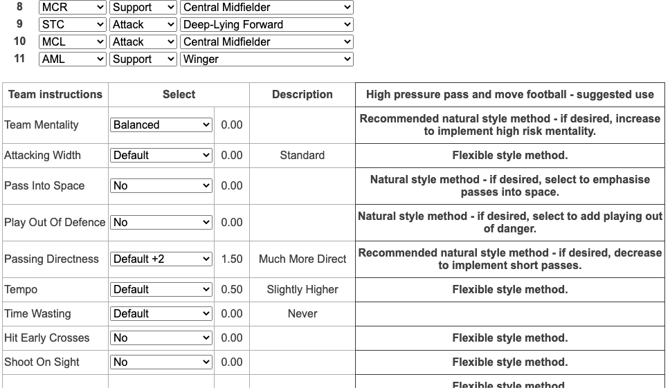 Style analyser example